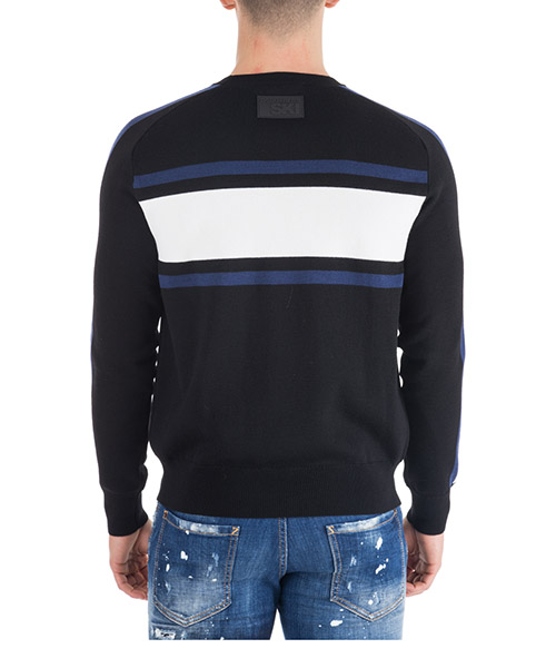 Men's crew neck neckline jumper sweater pullover sky secondary image