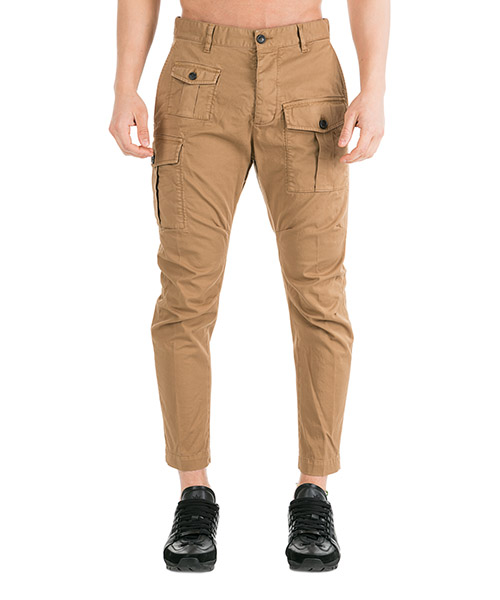 Trousers Dsquared2 Cargo S71KB0146S49572115 beige