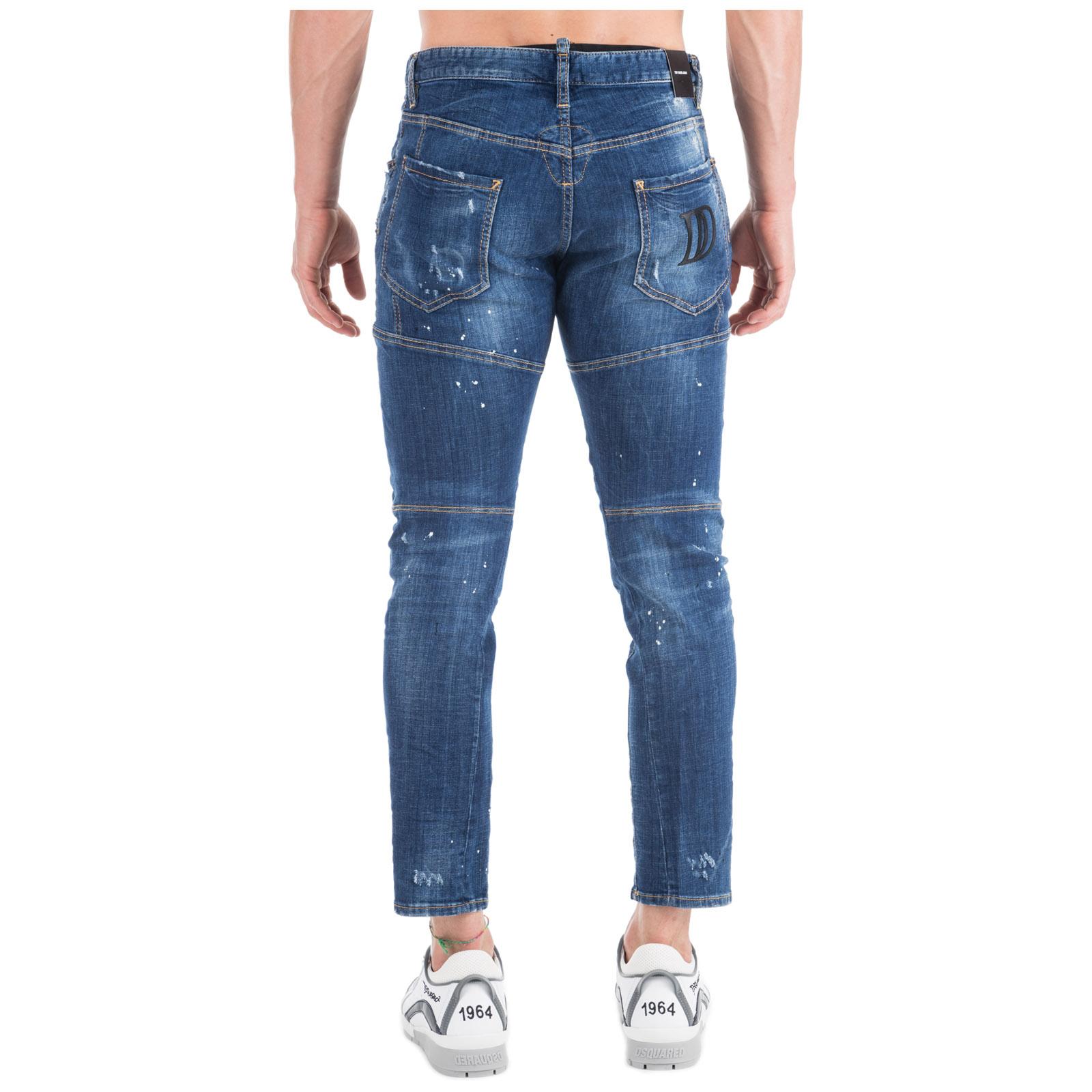 Men's jeans denim tidy biker