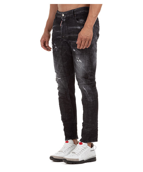 Men's jeans denim tidy biker secondary image