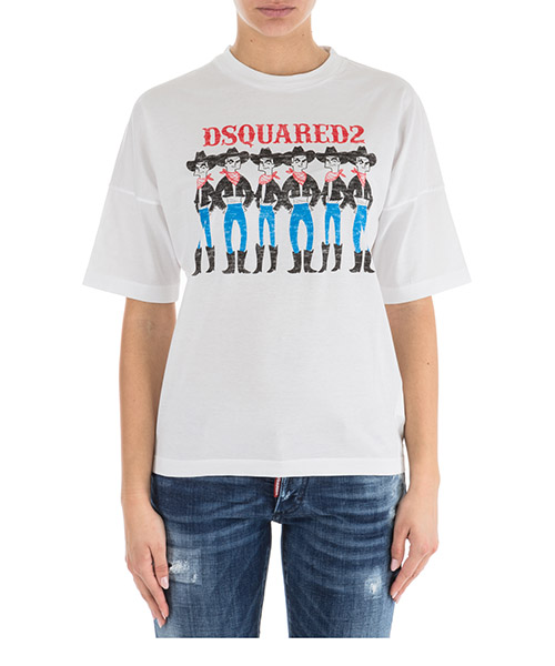 T-shirt Dsquared2 s72gd0116s22427100 bianco