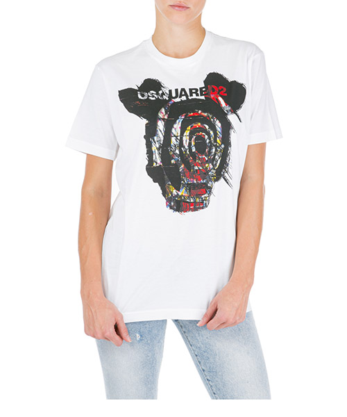 T-shirt Dsquared2 s72gd0167s22427100 bianco
