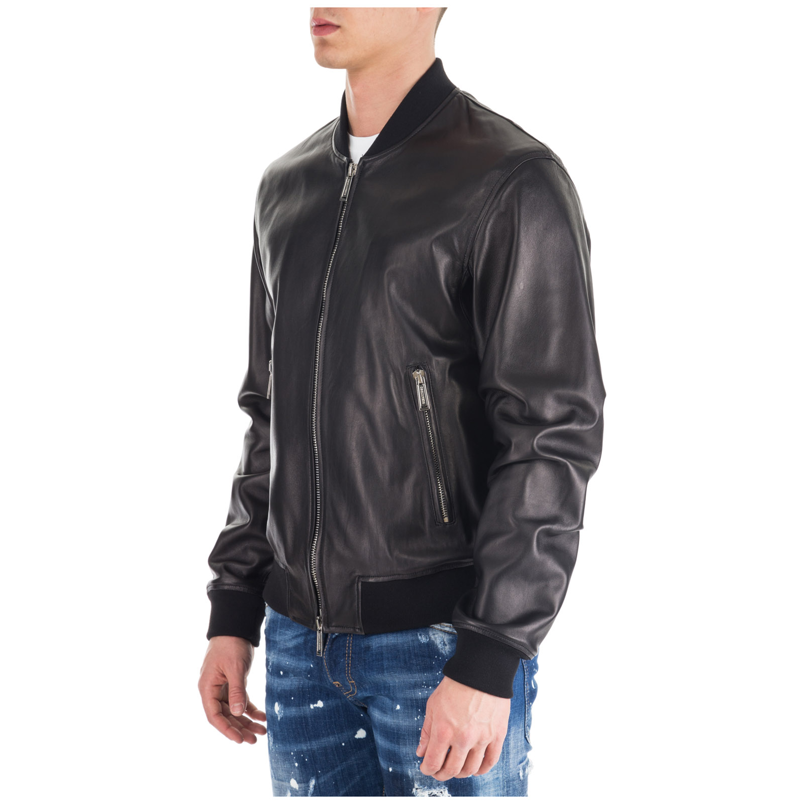a75dc0db7 Men's outerwear jacket blouson in pelle aviator bomber