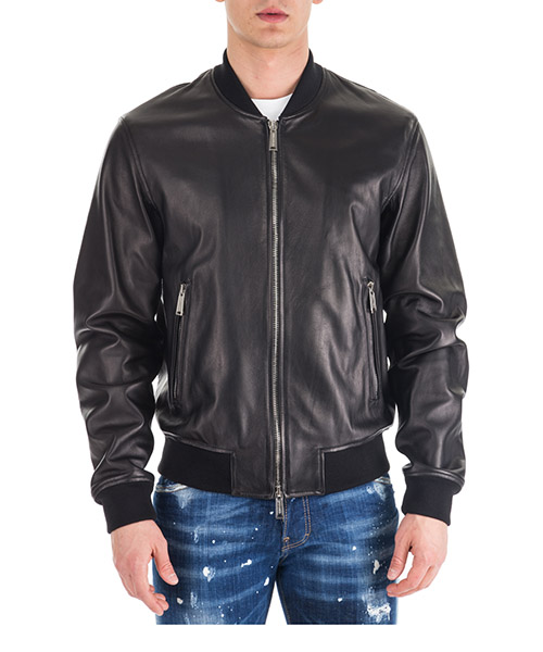 Lederjacke Dsquared2 Aviator bomber S74AM0891SY1352900 nero