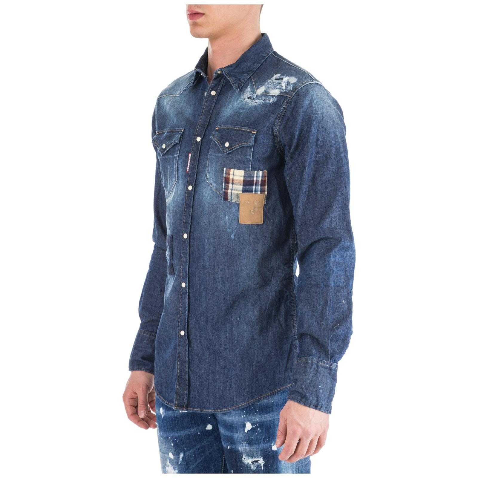 35d7b84c732 ... Chemise à manches longues homme in denim jeans