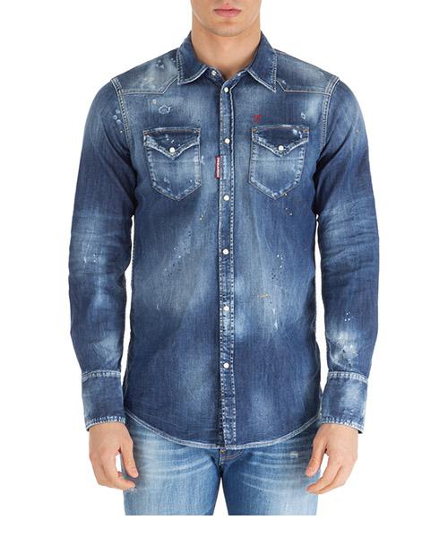 Camisa Dsquared2 western s74dm0392s30341470 blu