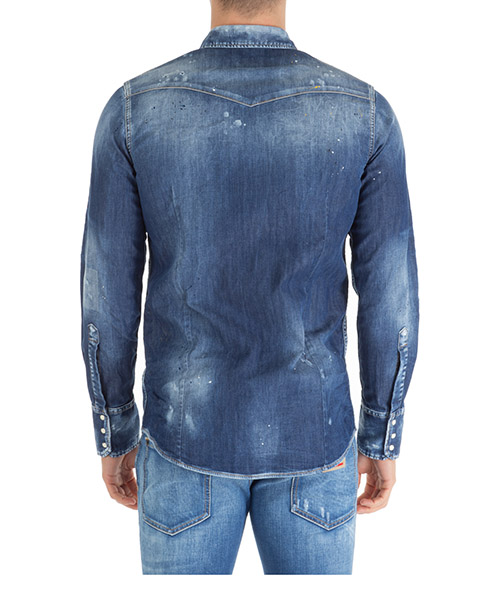 Camisa de mangas largas de denim hombre western secondary image