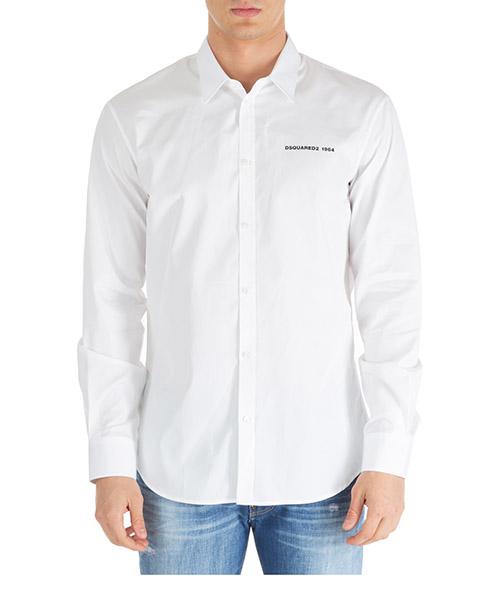 Camisa Dsquared2 poplin relax dan s74dm0394s36275100 bianco