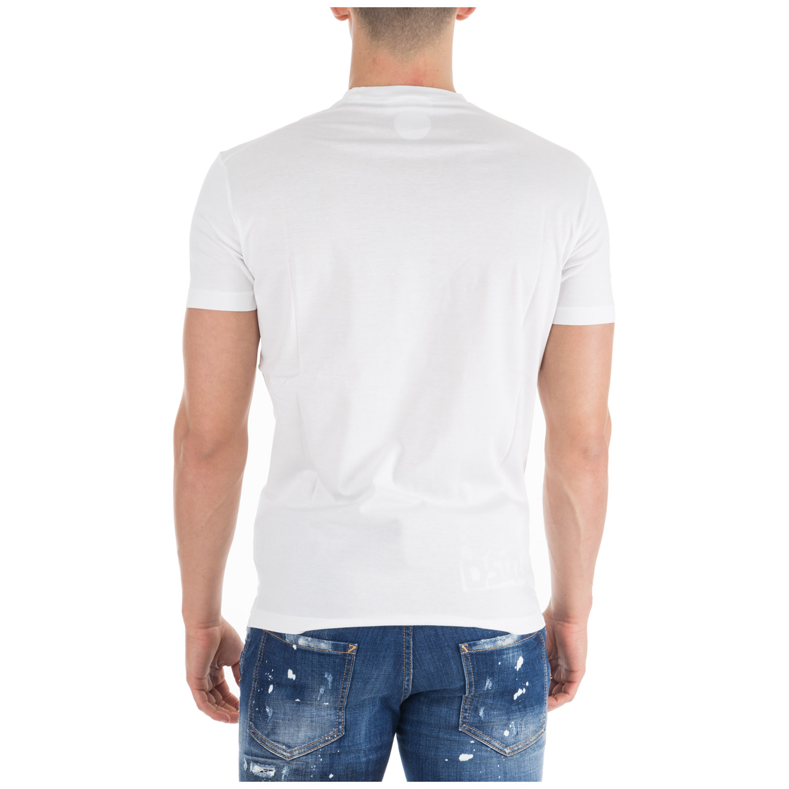 Men's short sleeve t-shirt crew neckline jumper