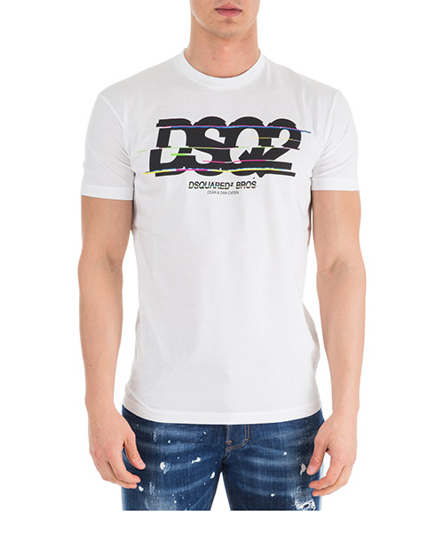 T-shirt Dsquared2 S74GD0424S22427100 bianco
