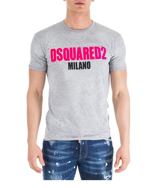 T-shirt Dsquared2 S74GD0432S22146857M grigio