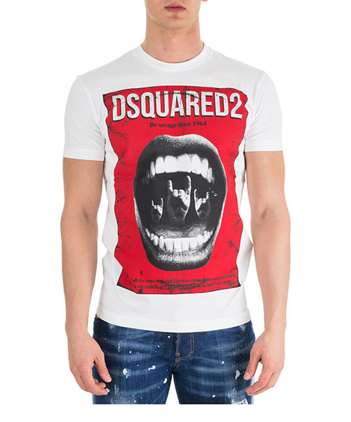 T-shirt Dsquared2 S74GD0476S20694100 bianco