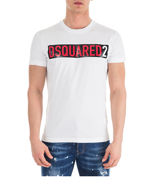 T-shirt Dsquared2 S74GD0479S20694100 bianco