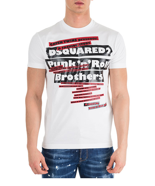 T-shirt Dsquared2 S74GD0484S22844100 bianco