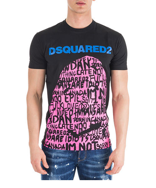 T-shirt Dsquared2 S74GD0492S22427900 nero