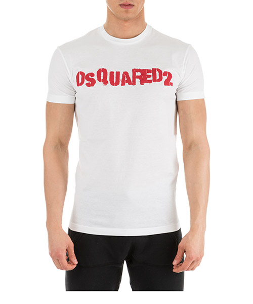 T-shirt Dsquared2 Logo S74GD0494S22427100 bianco