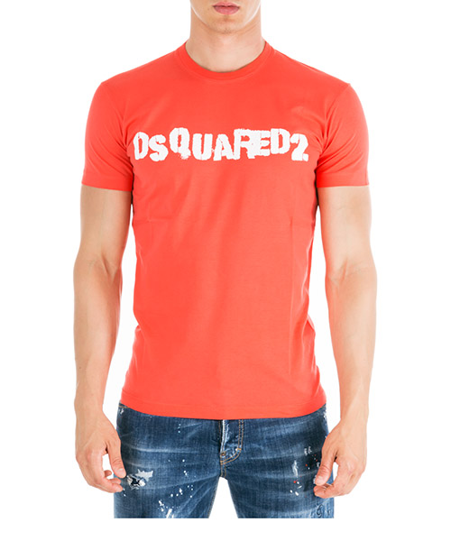 T-shirt Dsquared2 s74gd0494s22427304 rosso