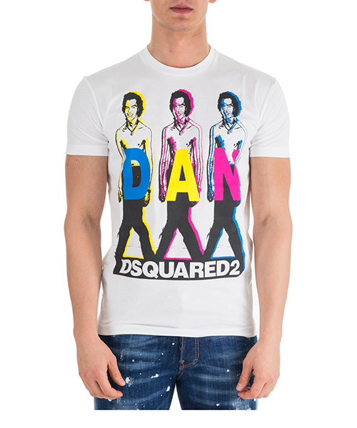T-shirt Dsquared2 S74GD0498S22427100 bianco