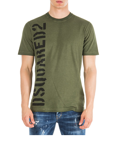 Футболка Dsquared2 S74GD0509S21600703 verde