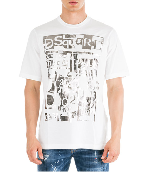 T-shirt Dsquared2 S74GD0531S22427100 bianco