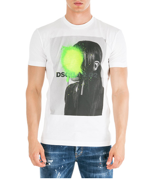 T-shirt Dsquared2 S74GD0556S22427100 bianco