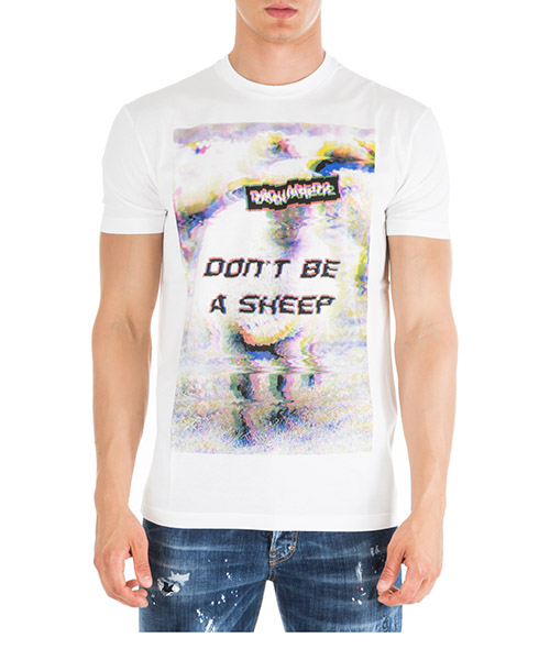 Футболка Dsquared2 Don't be a sheep S74GD0557S22427100 bianco
