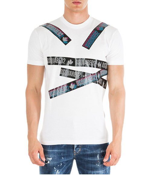 T-shirt Dsquared2 Tape S74GD0560S22427100 bianco