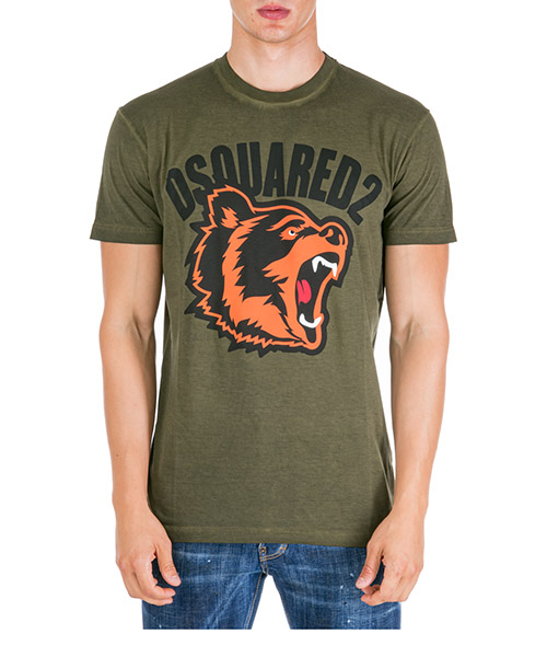 T-shirt Dsquared2 s74gd0584s21600727 verde
