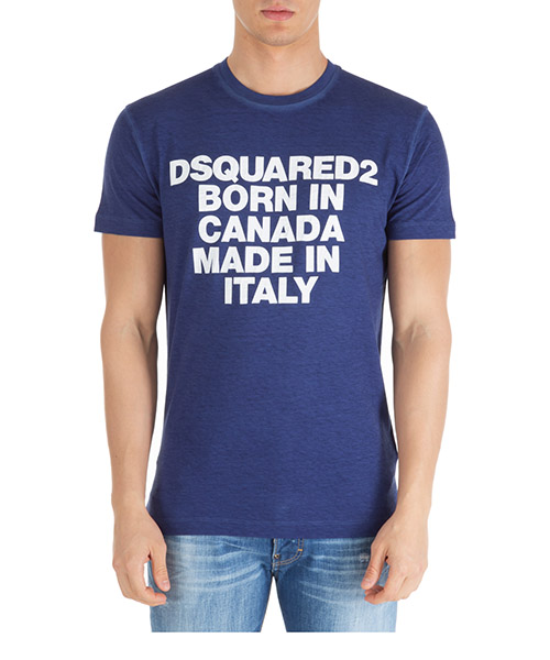 T-shirt Dsquared2 s74gd0592s22507470 blu