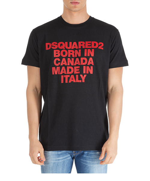 T-shirt Dsquared2 s74gd0592s22507900 nero