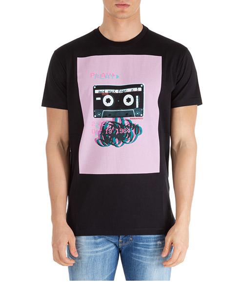 Camiseta Dsquared2 acid mix tape s74gd0599s22844900 nero