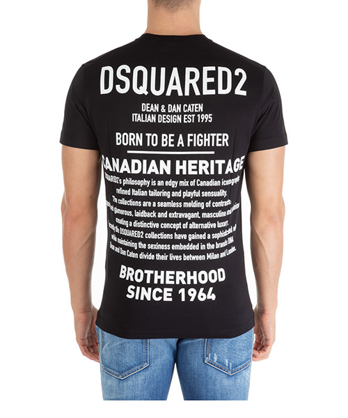 T-shirt Dsquared2 born to be a fighter s74gd0600s22844900 nero