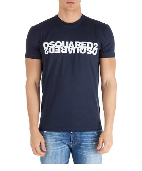 Camiseta Dsquared2 double logo s74gd0635s22427470 blu