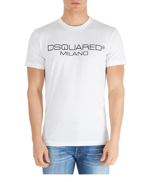 T-shirt Dsquared2 dsquared2 milano s74gd0644s22844100 bianco