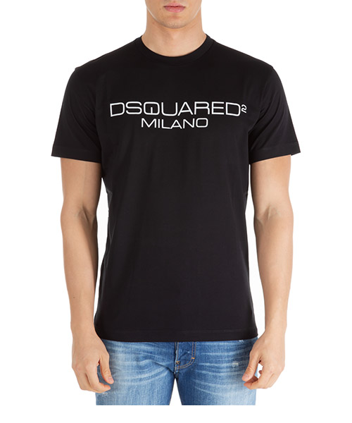 T-shirt Dsquared2 dsquared2 milano s74gd0644s22844900 nero
