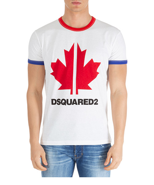 T-shirt Dsquared2 s74gd0695s22507100 bianco