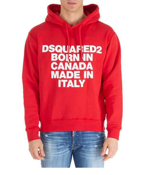 Hoodie Dsquared2 born in canada made in italy s74gu0360s25030307 rosso