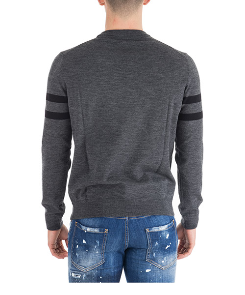 Men's crew neck neckline jumper sweater pullover icon secondary image