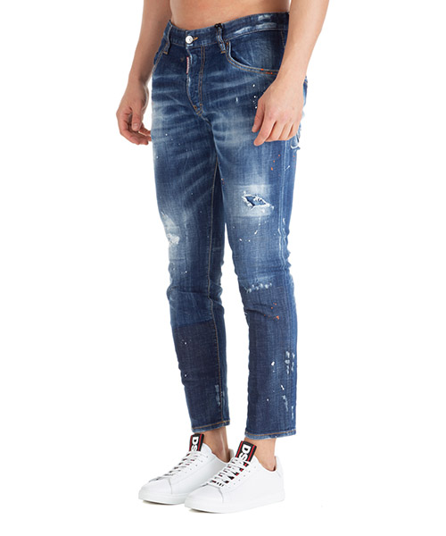 Vaqueros jeans denim de hombre pantalones dark orange macchia skater secondary image