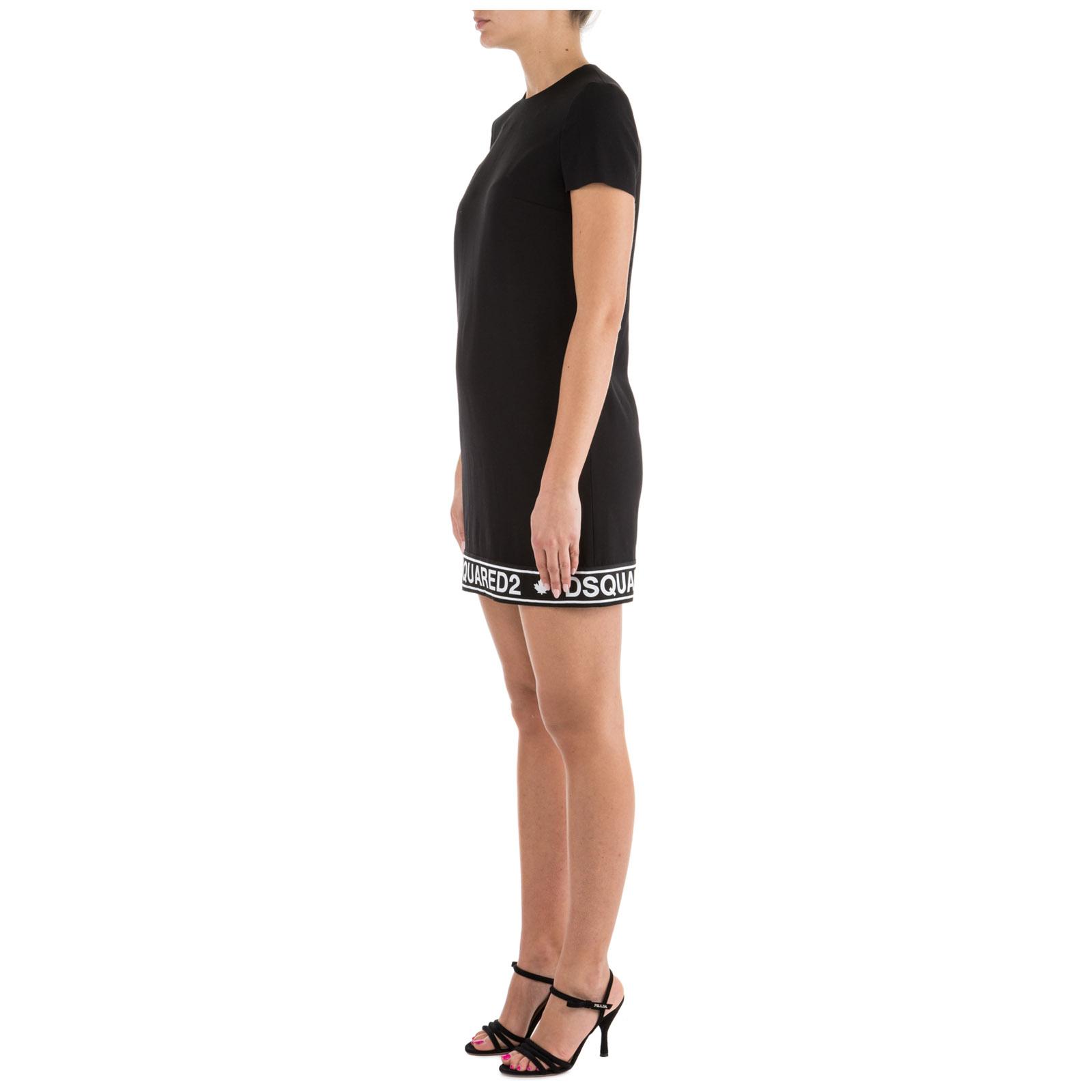 Women's knee length dress short sleeve