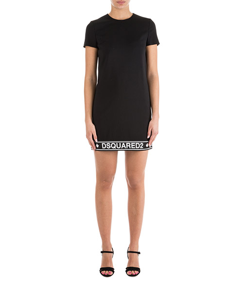 Women's knee length dress short sleeve