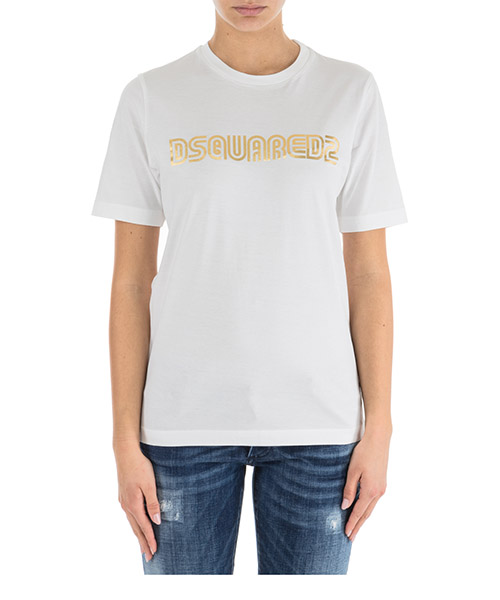 T-shirt Dsquared2 S75GC0930S22844100 bianco