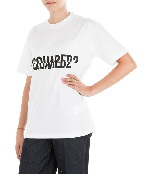 T-shirt Dsquared2 S75GD0019S23009100 bianco