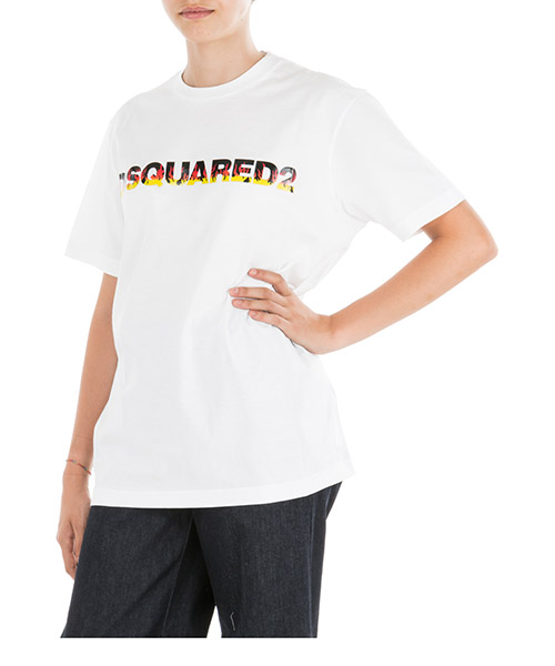 T-shirt Dsquared2 S75GD0036S22427100 bianco