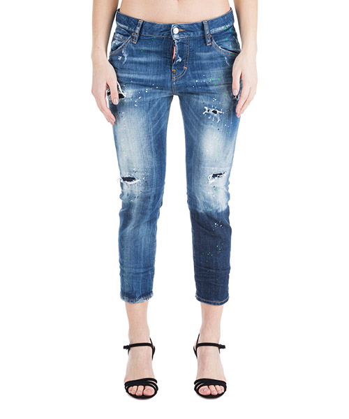 Vaqueros Dsquared2 Cool girl cropped S75LB0092S30342470 blu