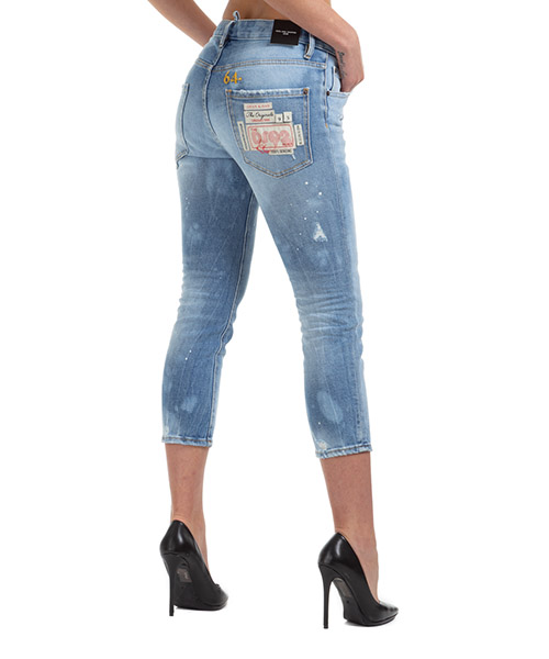 Jeans Dsquared2 hockney cool girl cropped jean s75lb0283s30662470 azzurro