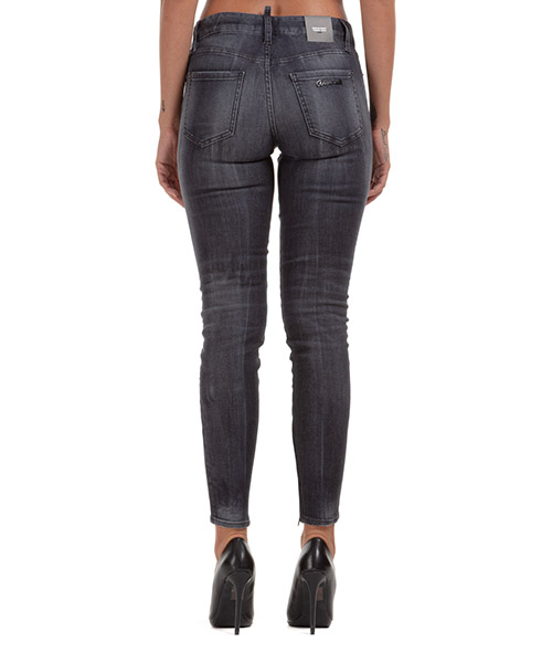 Damen gerade strechthose jeans  medium waist twiggy secondary image
