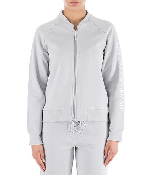 Zip up sweatshirt  Emporio Armani 1638308A25009117 silver