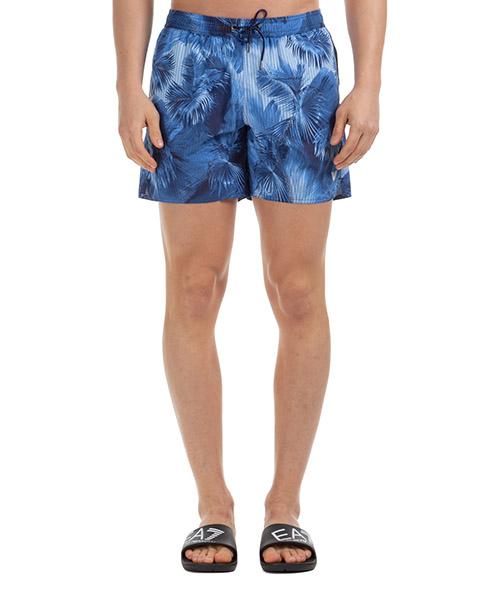 Swimming trunks Emporio Armani 2117400P44165335 blue palms print