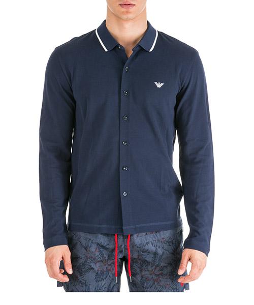 Men's long sleeve t-shirt polo collar